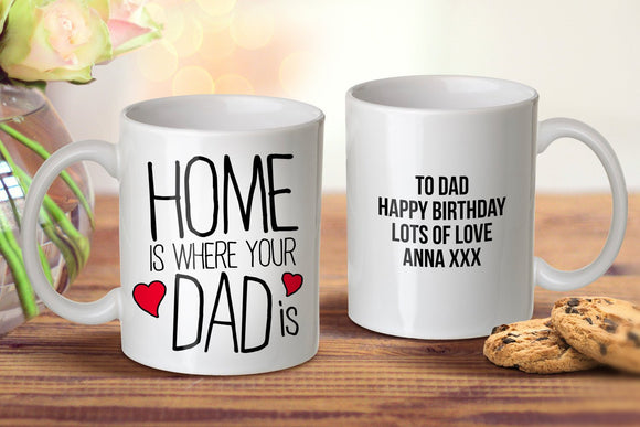 Home Is Where Mug for Dads