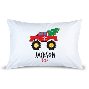 Monster Truck Pillow Case