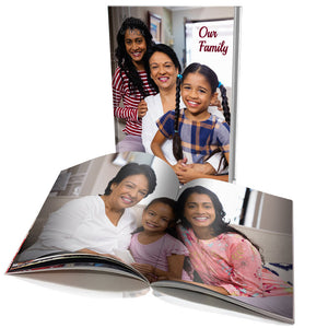 "10 x 8"" Portrait Personalised Soft Cover Book (40 Pages)"