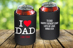 I Love Dad Drink Cooler
