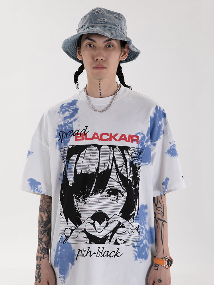 T-shirt Manga Blackair 'Crying'