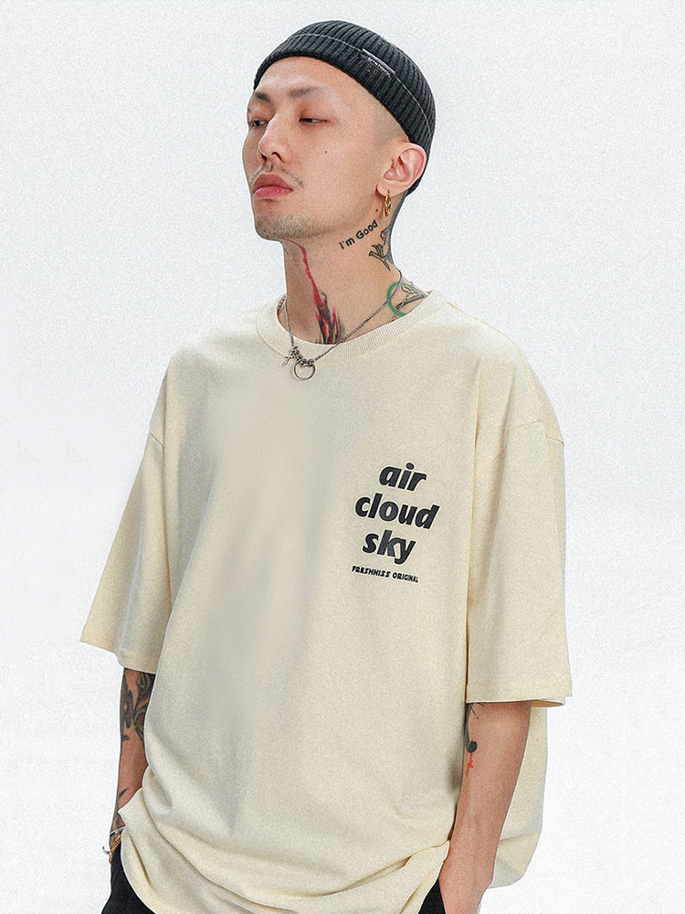 T-shirt Oversize Streetwear 'Air Cloud Sky'