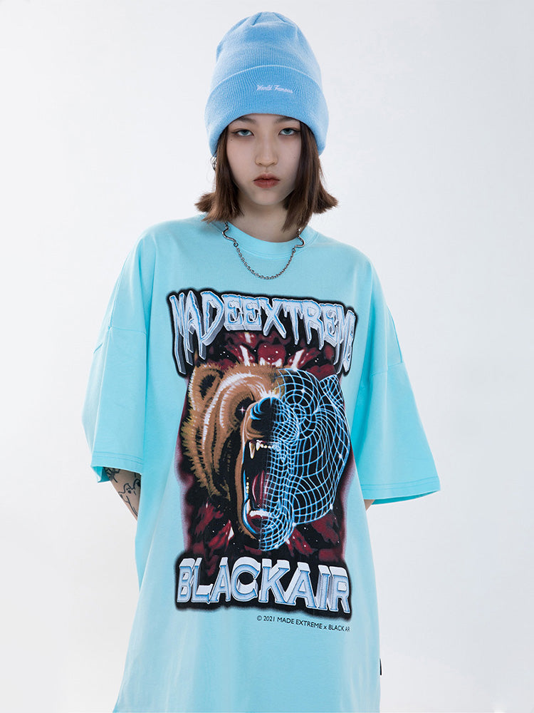 T-shirt Streetwear Made Extrem Blackair 'Ours'