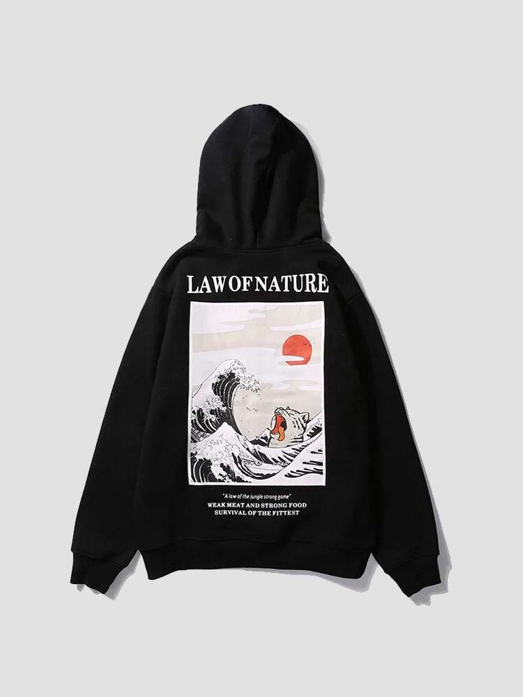 Sweat Vague de Kanagawa Imprimé 'Law of Nature'