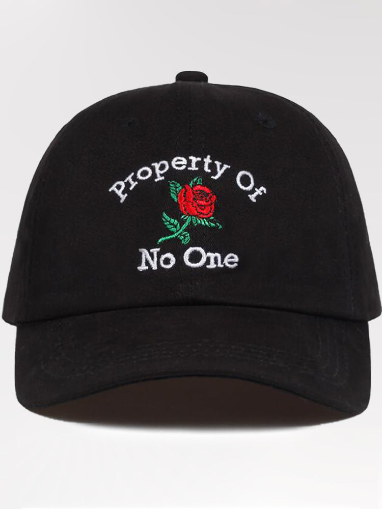 Casquette Streetwear 'Property Of No One'