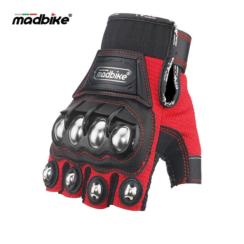 Motorcycle riding racing protective half finger gloves