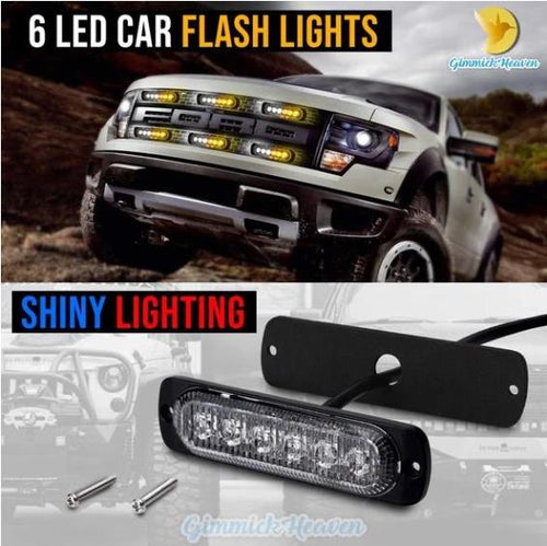 6LED Car Strobe Flash Lights(Buy 3 Free Shipping)