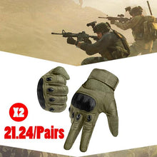 Load image into Gallery viewer, 【Hot Sale】Rubber Knuckle Outdoor Tactical Gloves