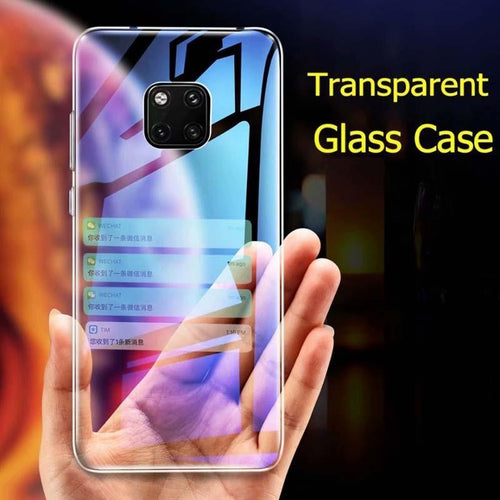 Crystal Transparent Tempered Glass Case For Huawei Mate20 Mate20Pro