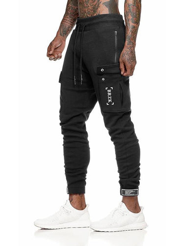 2 Colors Pockets Drawstring Men's Track Pants