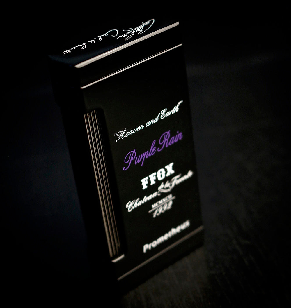 Prometheus Purple Rain Ultimo X Black Lacquer Triple Flame Torch