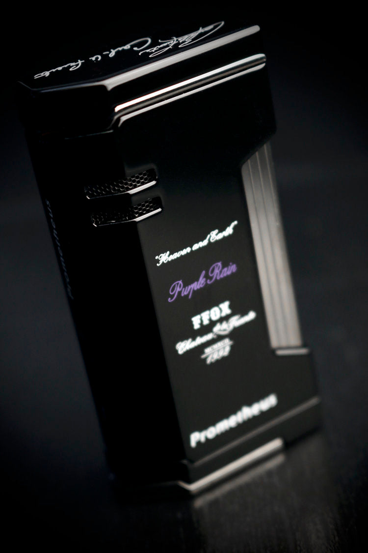 Prometheus OpusX Purple Rain Magama X Black Lacquer Flat Torch Flame