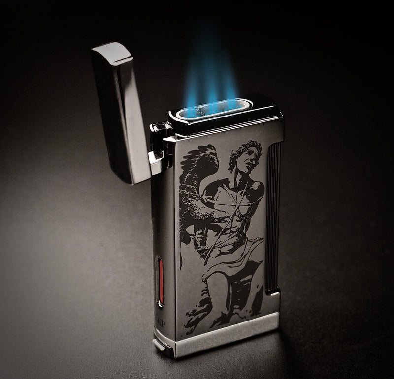 2020 Limited Edition Prometheus God of Fire Ultimo X Lighter Shiny Gun Metal