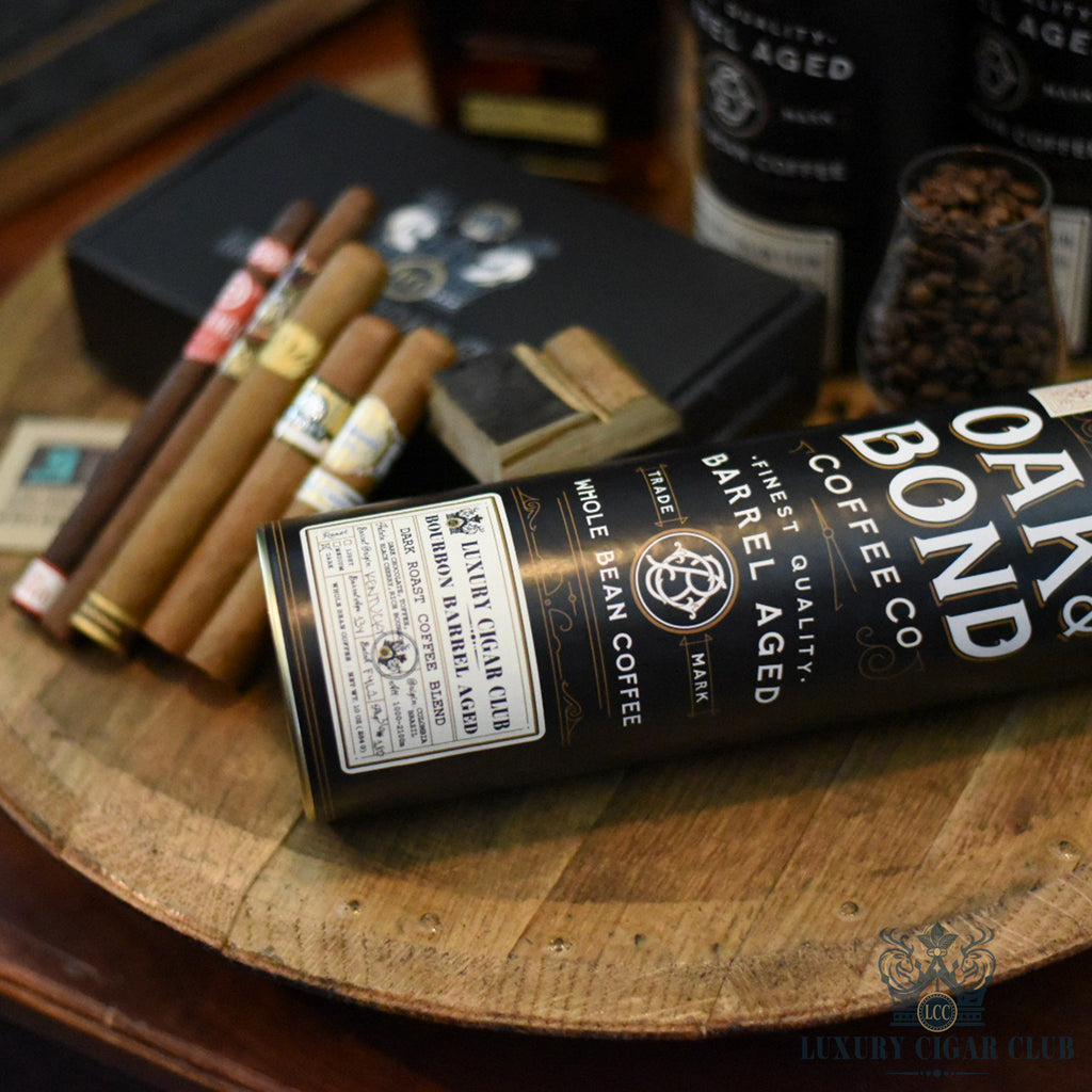 Luxury Cigar Club - Oak and Bond Bourbon Barrel Aged Coffee Sampler