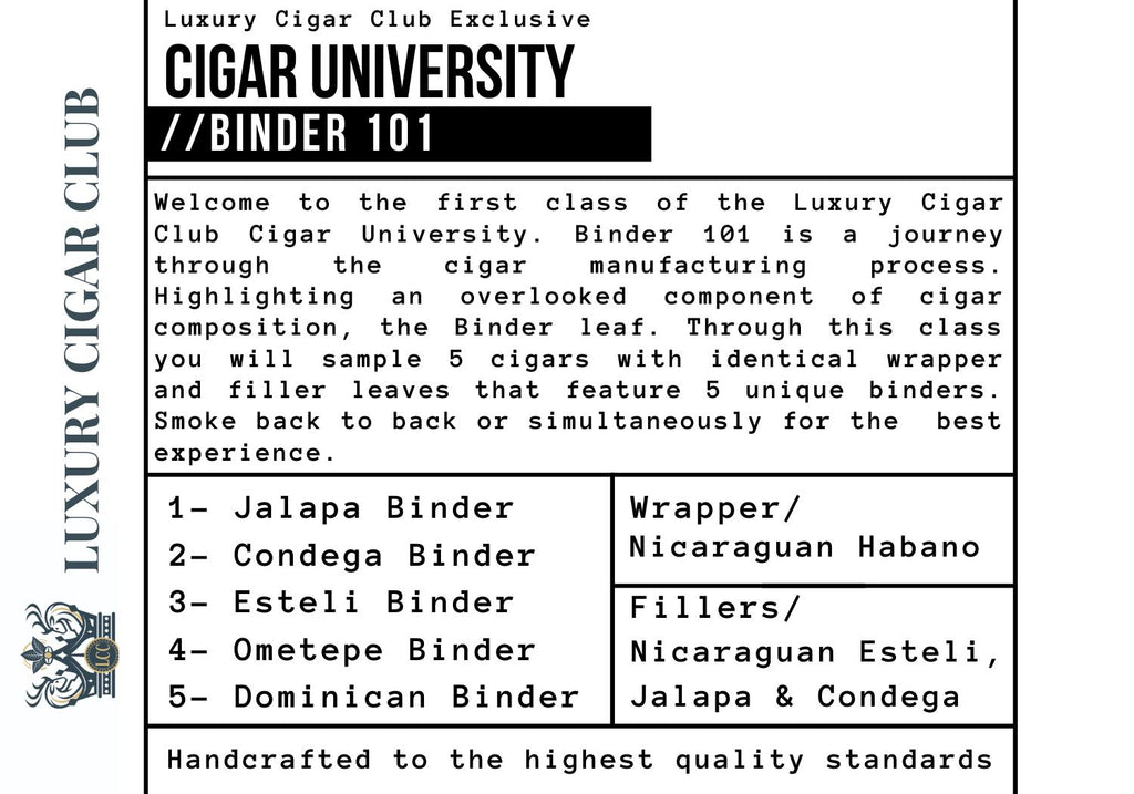 Luxury Cigar Club Cigar University Binder 101