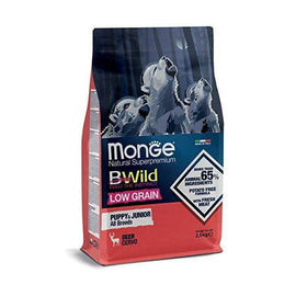 Monge Cane CROCCHETTA BWILD Low Grain all Breeds Puppy & Junior con Cervo 12 kg. - Amici e Natura iTALIA