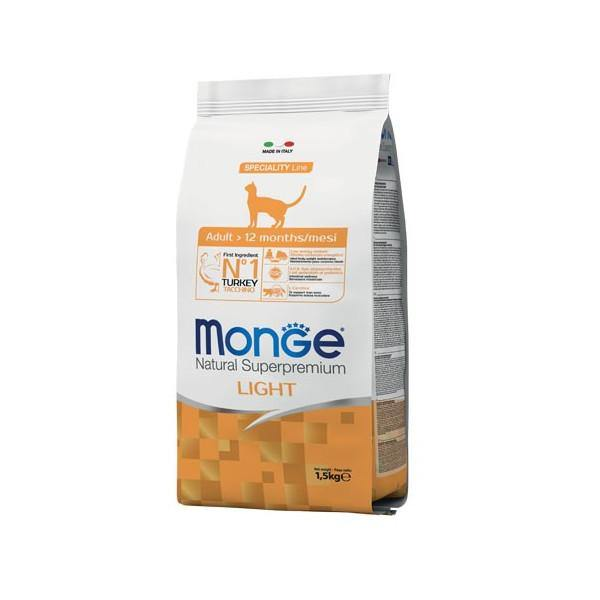 Monge Natural Super Premium Tacchino Light Adult 1,5 kg - Amici e Natura iTALIA