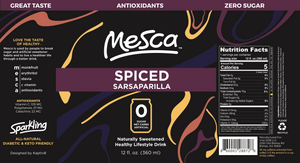 Mesca Spiced Sarsaparilla 12 oz Cans
