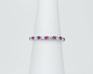 Diamond cut rubies
