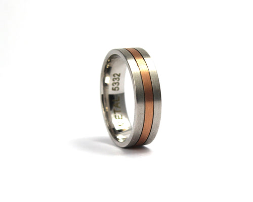 9ct two colour gold band