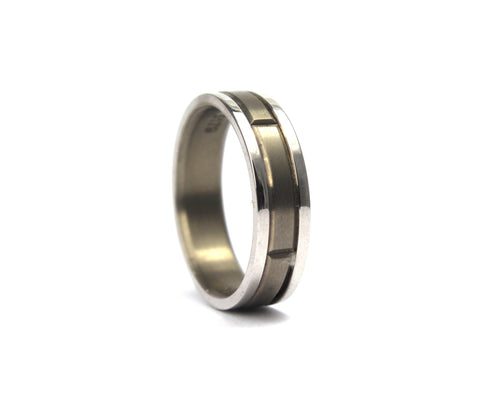 9ct titanium band