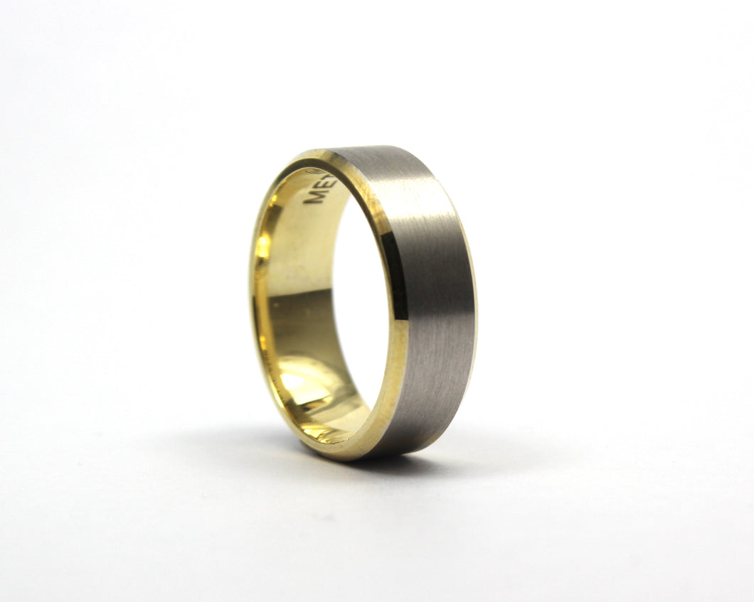 Two colour 9ct band