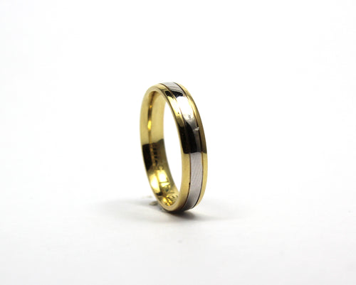 9ct two colour band