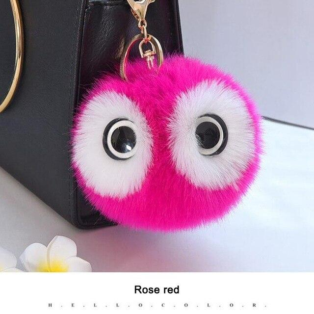 Fluffy Owl Keychain - Vehicles accessories, car-enthusiast gifts, car interior & safety Gadgets