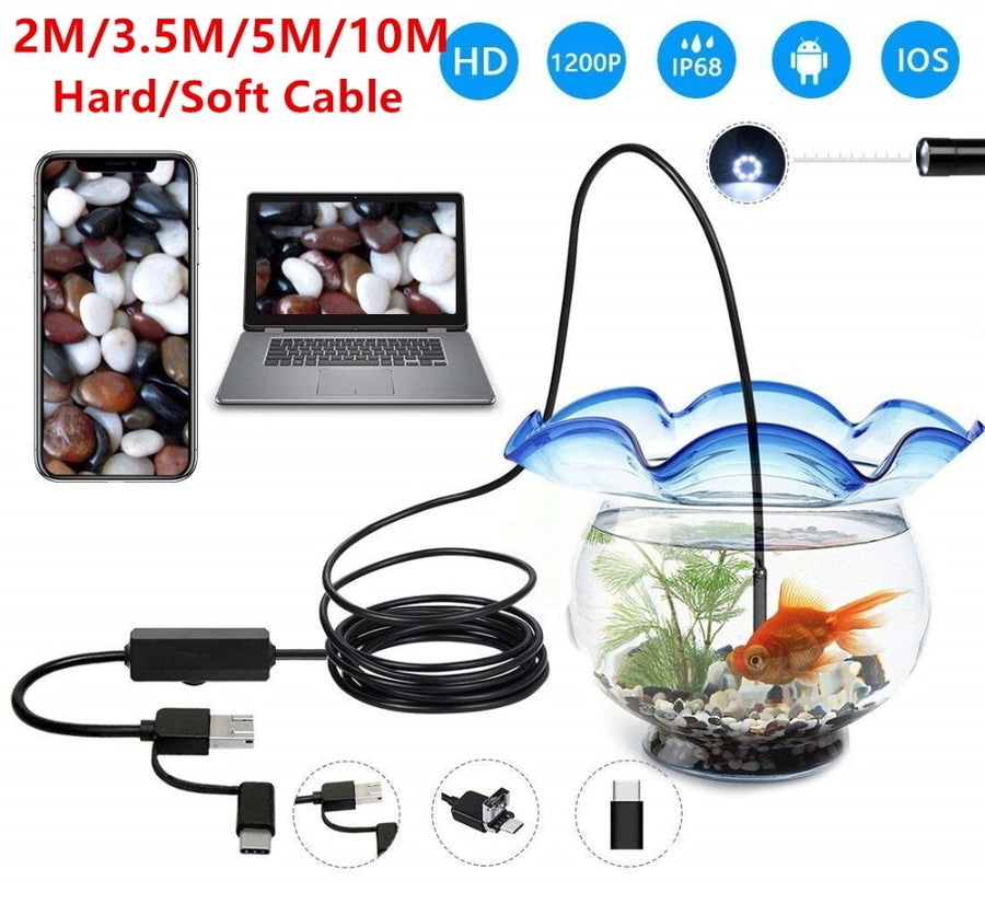 3in1 USB HD Endoscope - Vehicles accessories, car-enthusiast gifts, car interior & safety Gadgets
