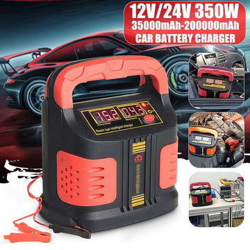12 V / 24V Portable Battery Charger - Vehicles accessories, car-enthusiast gifts, car interior & safety Gadgets