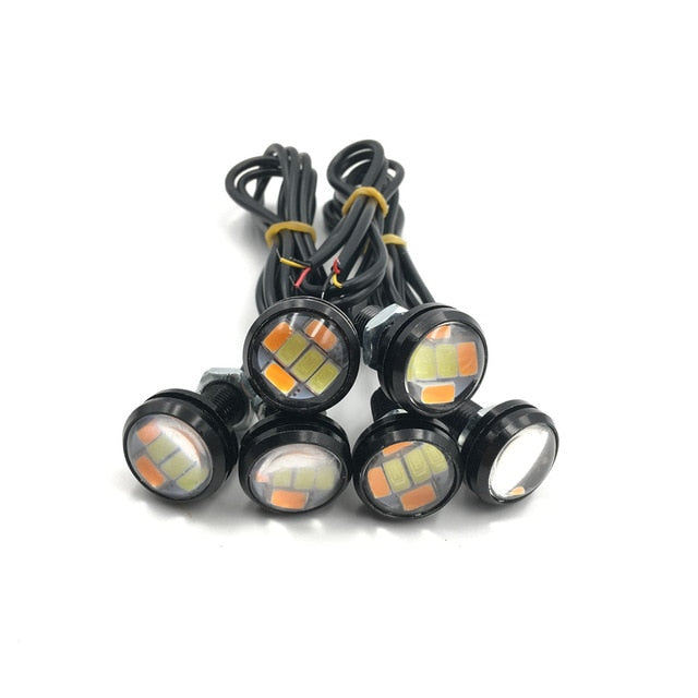 Dual Colour Eagle Eye Switchback White / Amber LED Lamp - Vehicles accessories, car-enthusiast gifts, car interior & safety Gadgets