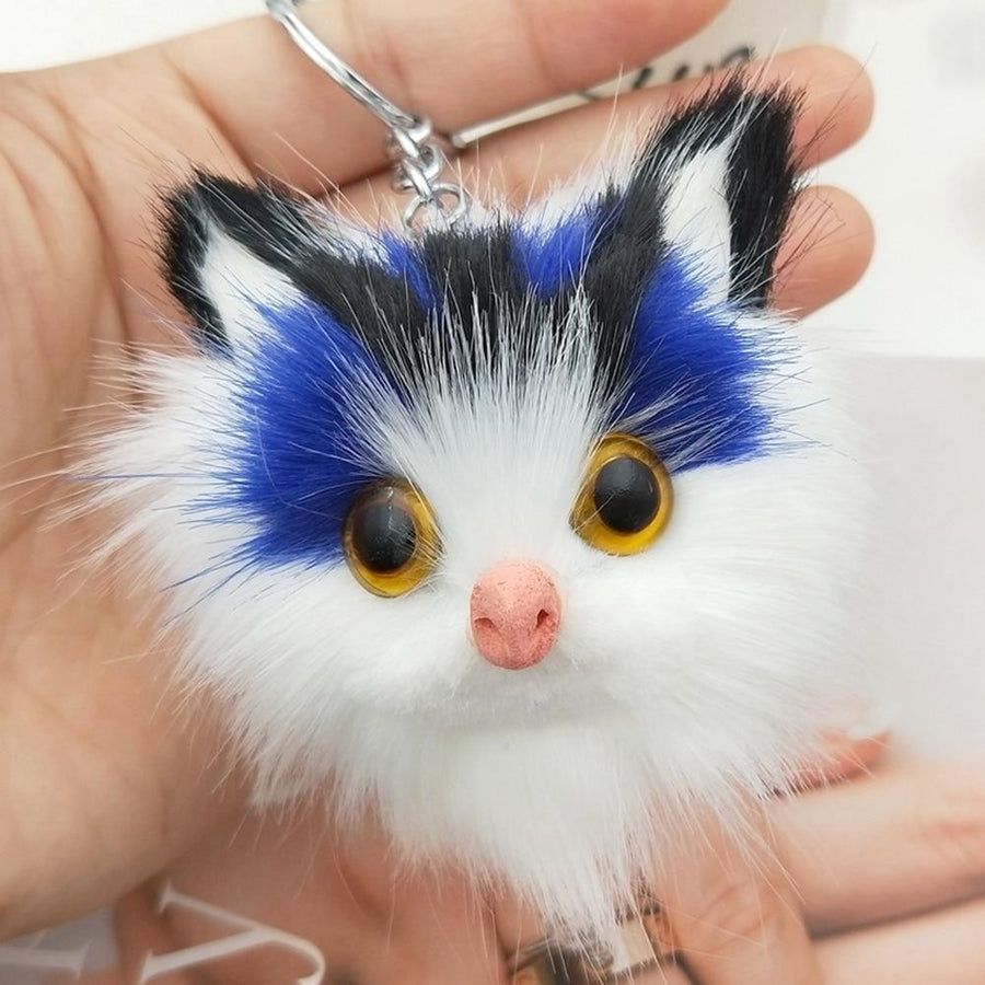 Wide-eyed Furry Kitty Keychain - Vehicles accessories, car-enthusiast gifts, car interior & safety Gadgets