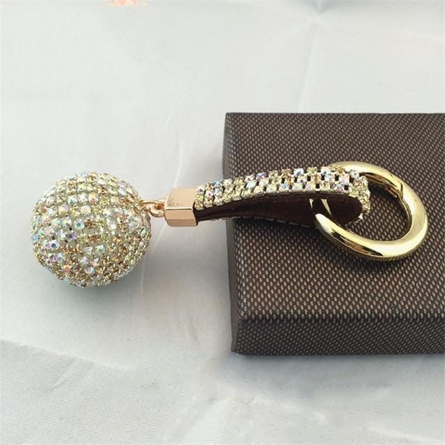 Rhinestone Crystal Ball Keychain - Vehicles accessories, car-enthusiast gifts, car interior & safety Gadgets