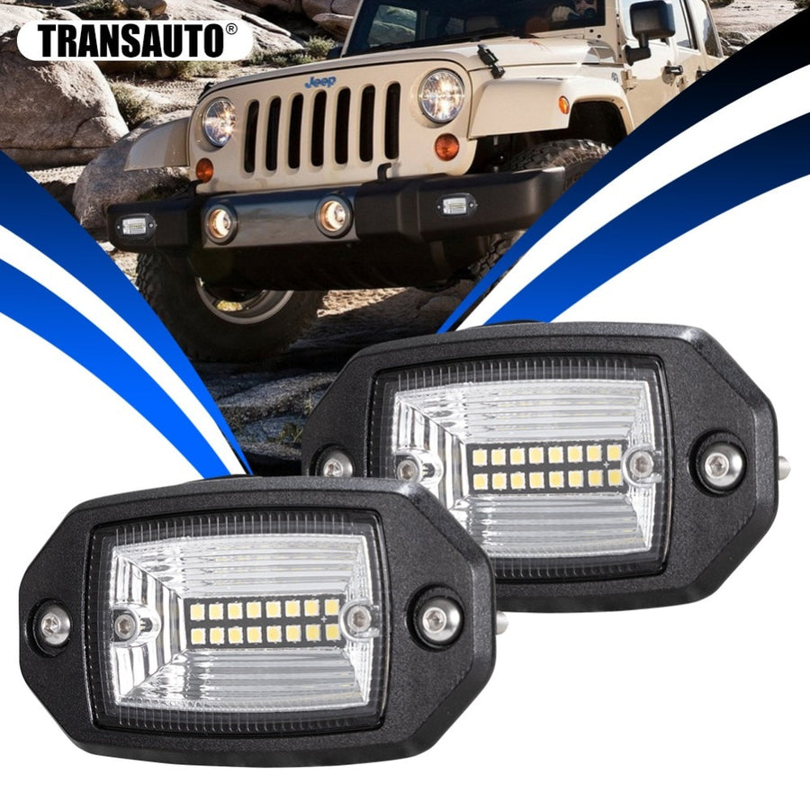Flush Mount LED Light Pods - Vehicles accessories, car-enthusiast gifts, car interior & safety Gadgets