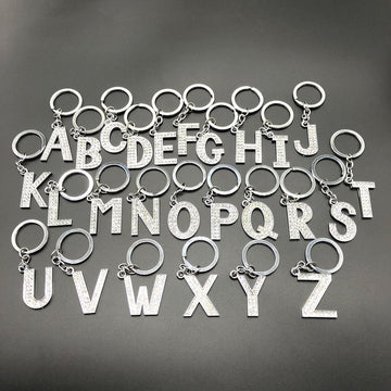 Diamante Letter Keychain A-Z - Vehicles accessories, car-enthusiast gifts, car interior & safety Gadgets