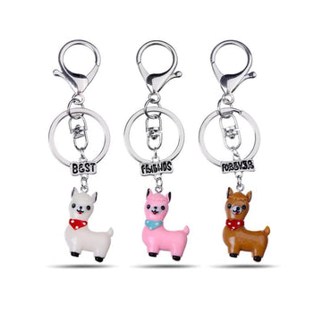 Llama / Whale Best Friends Forever Keychains - 3pcs - Vehicles accessories, car-enthusiast gifts, car interior & safety Gadgets
