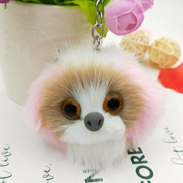 Fluffy Dog Keychain - Vehicles accessories, car-enthusiast gifts, car interior & safety Gadgets