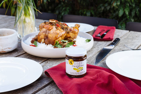 FODMAP recipe, NOGO zingy ginger sauce with roast chicken