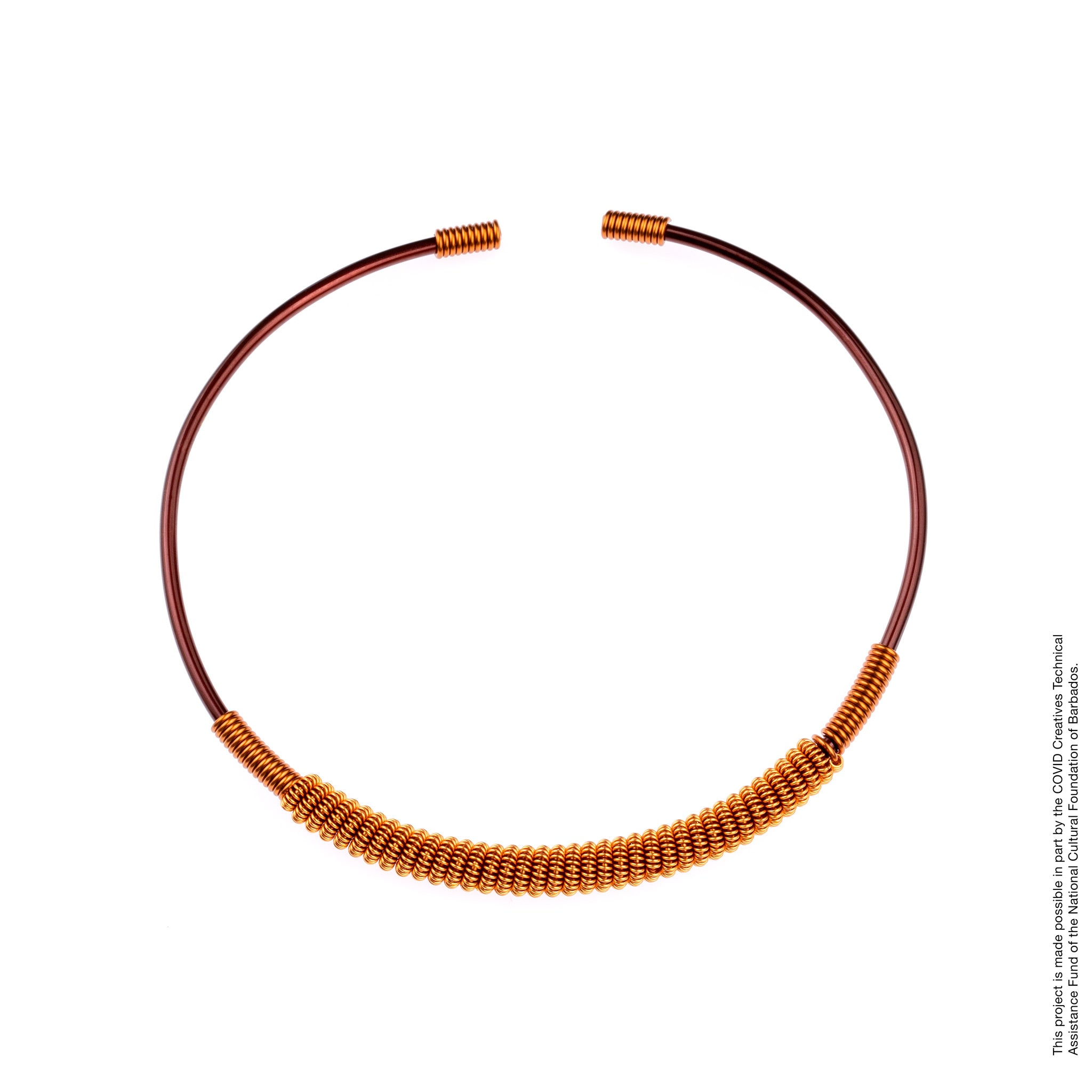 Copper Choker Necklace Angelique Jewelry Barbados