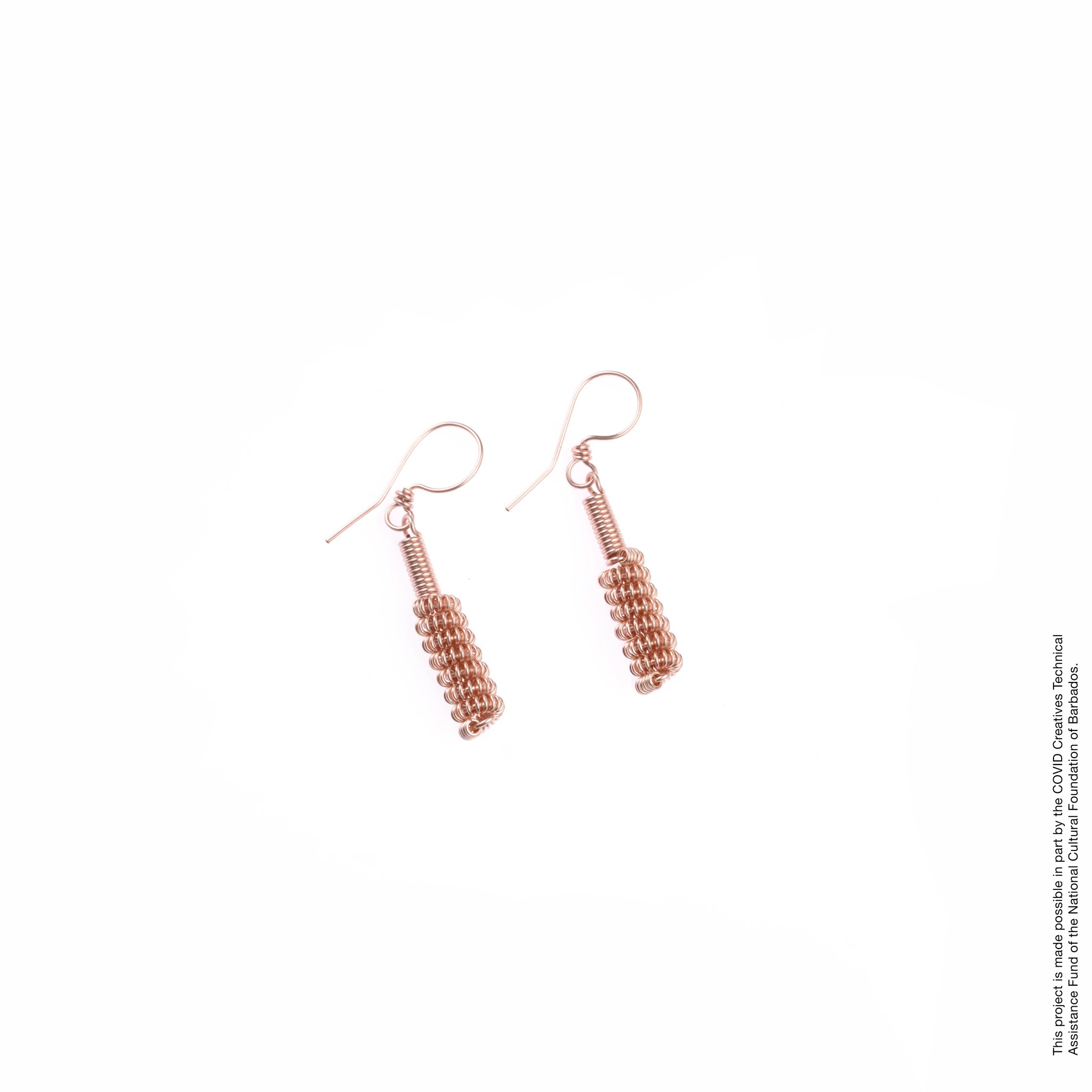 Copper Coiled Earrings Angelique Jewelry Barbados