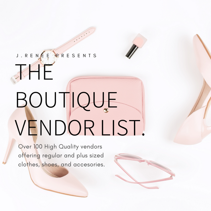 The Boutique Vendor List