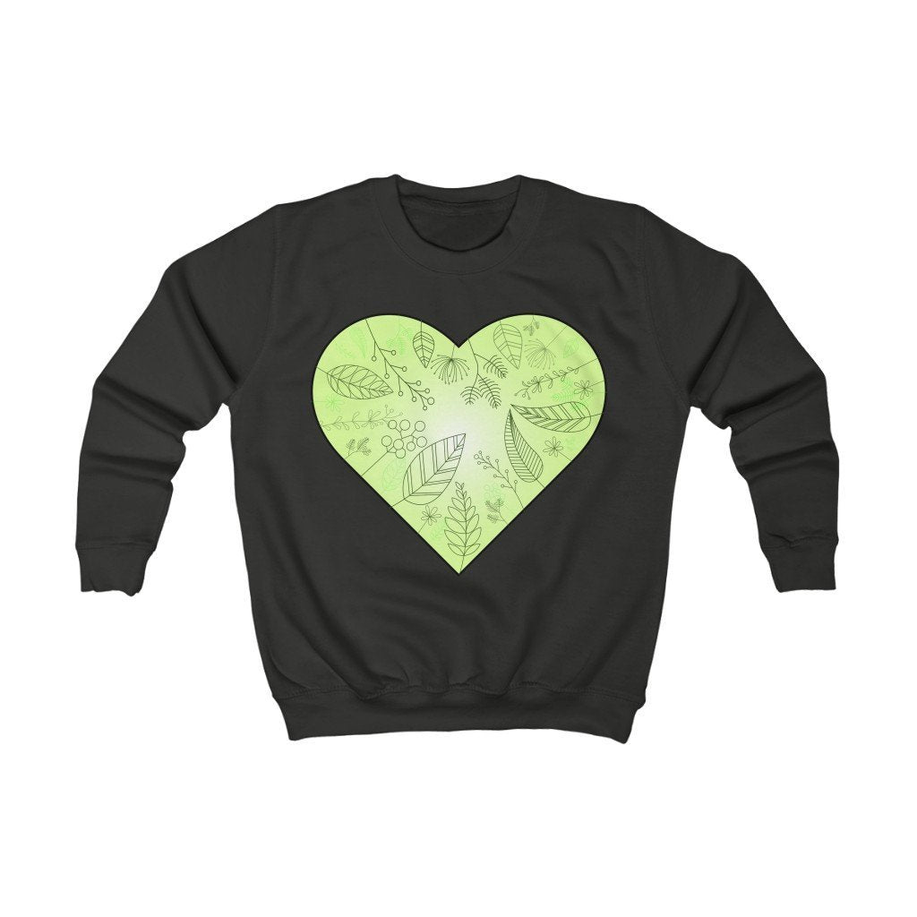 Eco Heart Organic Kids Sweatshirt - 21DW Design