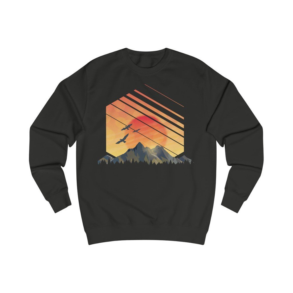 Hex Sunset Organic Sweatshirt - 21DW Design