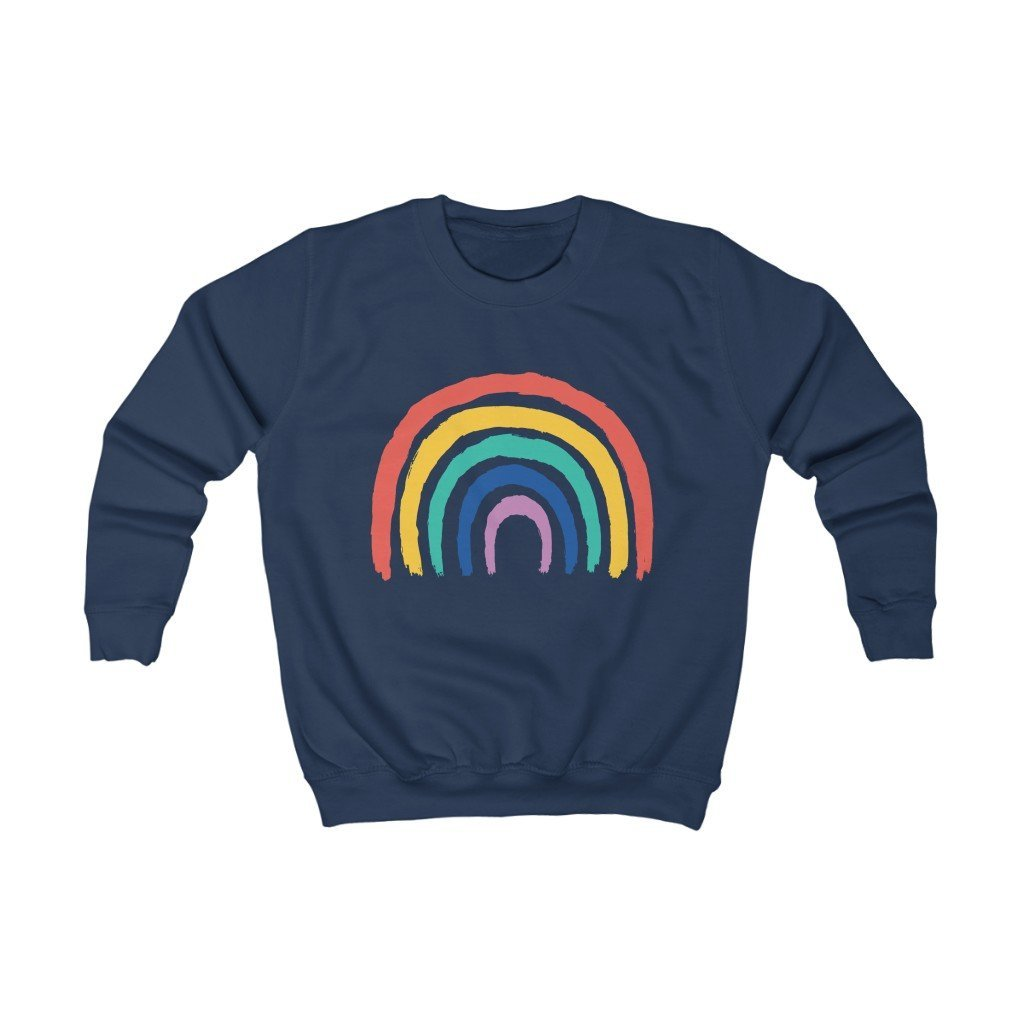 Rainbow Organic Kids Sweatshirt - 21DW Design