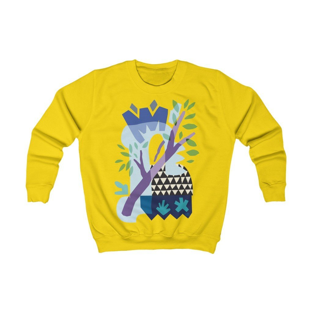 Spring Triangles Organic Kids Sweatshirt - 21DW Design