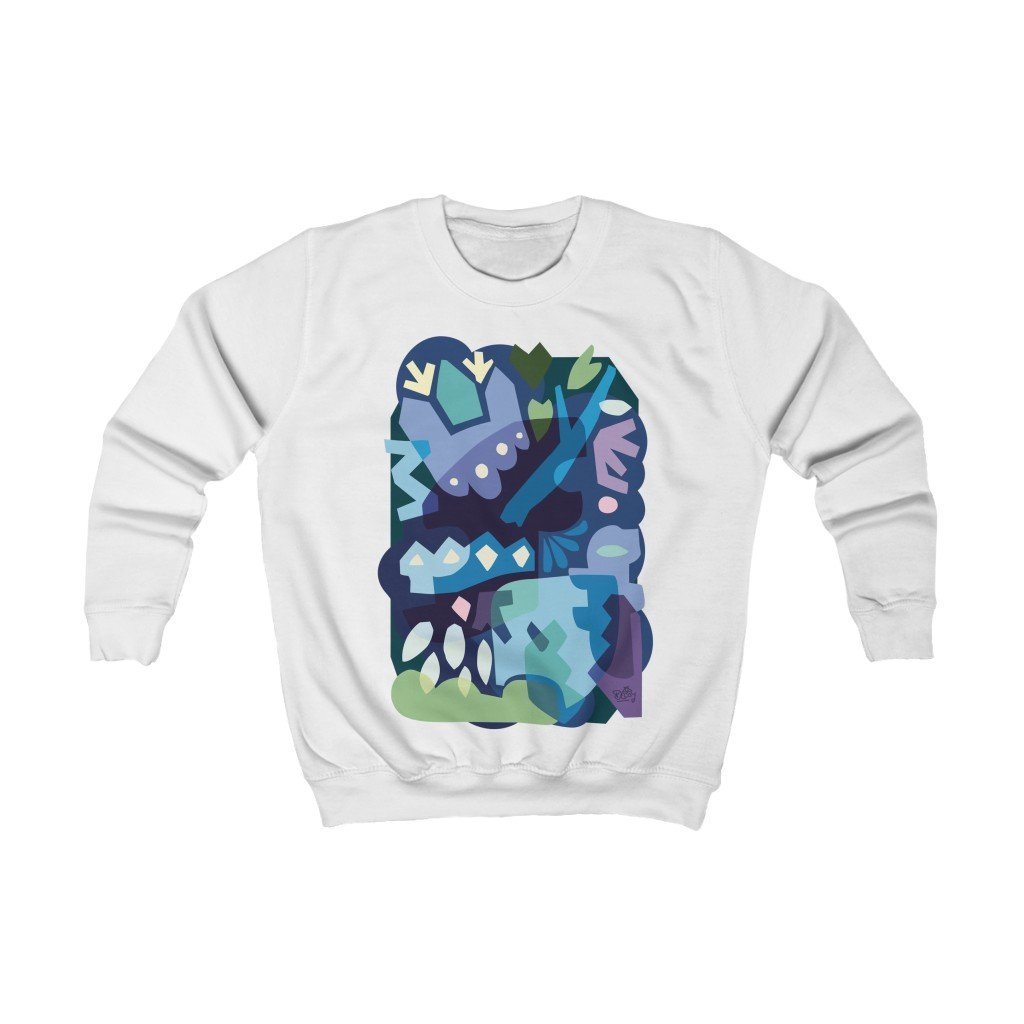Winter Night Organic Kid's Sweatshirt - 21DW Design