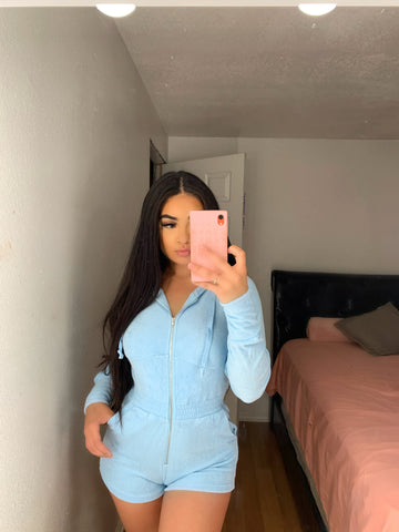 Blue romper long sleeve
