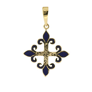 ミディアム•フロー• デ•リイ Medium•Fleur de lys Pendant with Enamel
