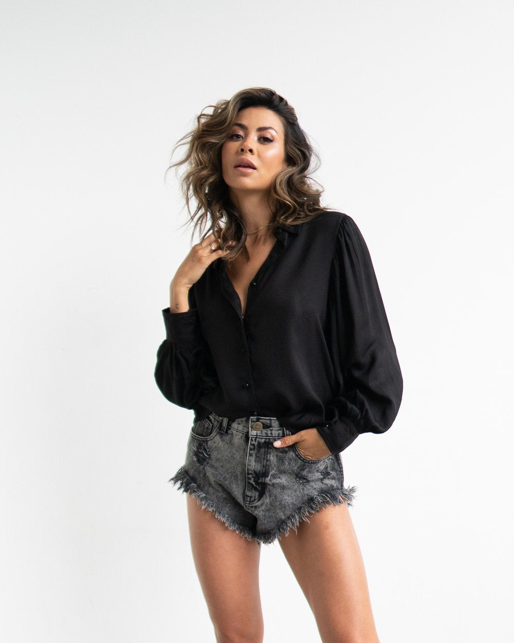 MGNR Sadie Blouse Black