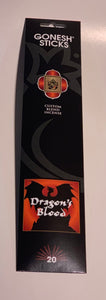 Gonesh Dragon's Blood Incense Sticks 20 Pack